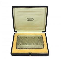 Silver cigarette case with...