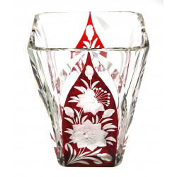 Glass cut vase