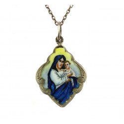 Silver Madonna with chain
