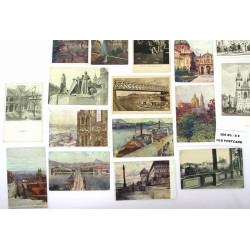 Different postcards with...