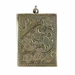 Art deco stříbrný medailon...