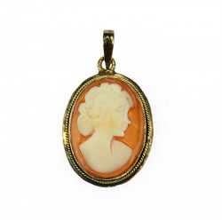 Silver pendant with cameo
