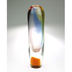 Váza z hutního skla -...