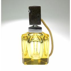 Yellow perfume bottle - Moser