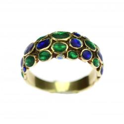 Zlatý prsten se smalty
