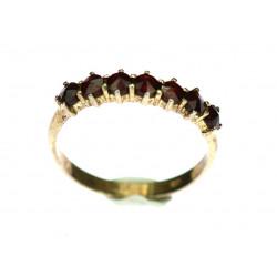 Stříbrný prsten s českými...