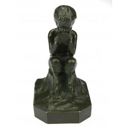 Bronze fauna statue