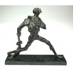 Bronze statue of a hunter