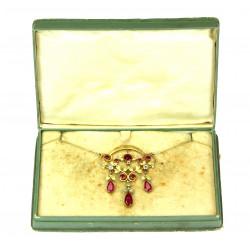Gold Art Nouveau Necklace