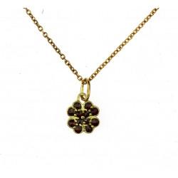 Silver chain with garnet...