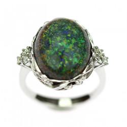 Zlatý prsten s černým...