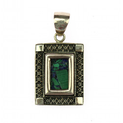 Silver pendant with lapis...
