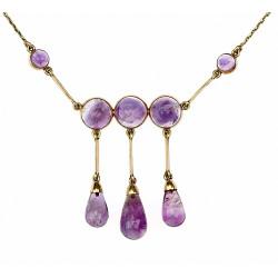 Art-deco zlatý náhrdelník s...