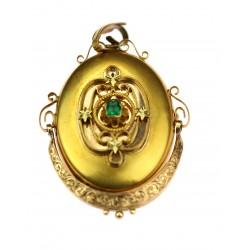 Zlatý medailon - brož