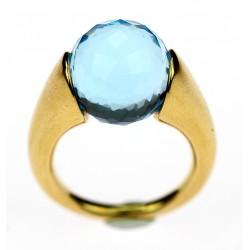 Zlatý prsten s topazem - Tous