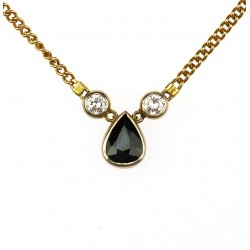 Zlatý náhrdelník se safírem...