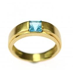 Zlatý prsten s topazem
