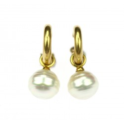 REZERVACE do 24.1. - Zlaté náušnice s perlami