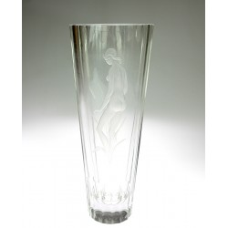 Skleněná váza - L. J. Gr.
