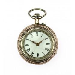 Women's silver pocket watch