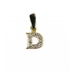 Gold pendant with diamonds - D