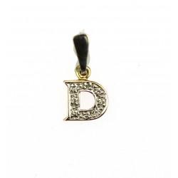 Zlatý přívěsek s diamanty - D