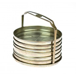 Plates with silver mount