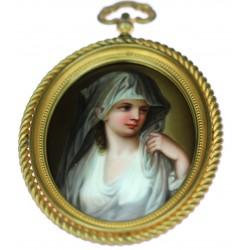 Malba na porcelánu - vestálka