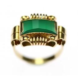 Art-deco zlatý prsten s...