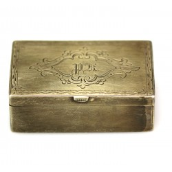 Box decorated with monogram
