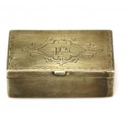 Krabička zdobená monogramem