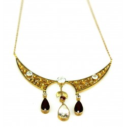 Zlatý secesní náhrdelník