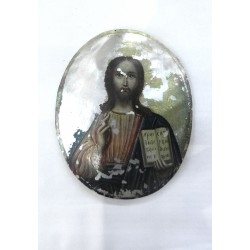 Medal with Blessing Christ