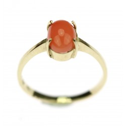 Gold ring with sea coral