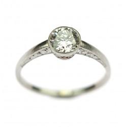 Platinový prsten s...