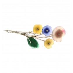 Zlatá brož - květina
