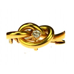 Zlatá brož s briliantem
