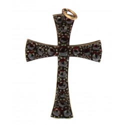 Cross decorated with Czech...