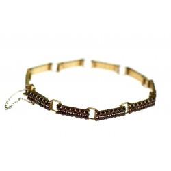 Silver bracelet with czech...
