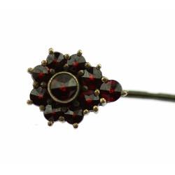 Silver pin with Czech garnet