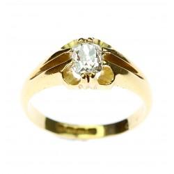 Zlatý prsten se starobrusným diamantem