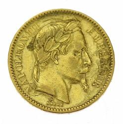 Zlatá mince - 20 frank 1865