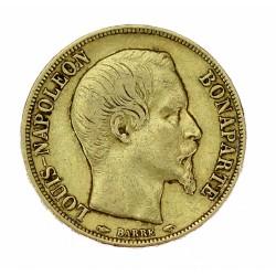 Zlatá mince - 20 frank 1852