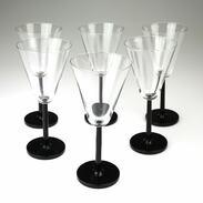 🇨🇿 Sada šesti elegantních skleniček na víno na černé nožce. . . .  🇬🇧 Set of six elegant wine glasses on a black leg. . . . . . . . . . . #starozitnesperkyspribehem #glass #prague #jewelry #cinolterantique #modra #antiques #praguelover #praha #starozitnosti #sperky #instagood #monday #artdeco #wineglass #igerscz #antiquescinolter #cinolterantiques