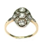 Prsten  vyrobený v kombinaci žlutého a bílého 14karátového zlata zdobený starobrusnými diamanty 3 x 0,15 ct, 2 x 0,05 ct a 12 x 0,015 ct barvy F, čistoty VS. . . . . Ring made of a combination of yellow and white 14 carat gold decorated with old diamonds 3 x 0.15 ct, 2 x 0.05 ct and 12 x 0.015 ct color F, clarity VS. . . . 35 000 Kč / 1346 EUR  . . #ring #viden #prague #brilianty #cinolterantique #diamonds #antiques #prsten #ahoj #starozitnosti #sperky #gold #instagood #artdeco #jewelryart #handmade #igerscz #antiquescinolter #dobrerano #art #antiquity #loveit