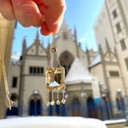 NOVINKA - Zlatý náhrdelník s citrínem a diamanty. . . . NEW - Gold necklace with citrine and diamonds. . . . . . . 35 000 Kč / 1 346 € . . #starozitnesperkyspribehem #springmood  #smaragd #antique #historie #prague #slowfashion #cinolterantique #march #spring  #austriahungary #starozitnosti #prsten #antiqueslover #goldsmith #heartbeat #prague #emerald #yellowgoldjewellery