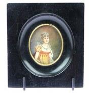 MINIATURA - JOSÉPHINE DE BEAUHARNAIS ~~~   Předlohou pro miniaturu se stala Marie Josèphe Rose Tascher de La Pagerie, zvaná Joséphine de Beauharnais, francouzská císařovna a manželka Napoleona Bonaparta.   #ministura #josephinedebeauharnais #miniature #france #francie #halfof19century #antiques #antiquescinolter #prague #maiselova9 #antiquesforsale #antiquesofinstagram