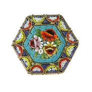 "Brož tzv. ""millefiori"" (tisíc květů) vyrobená z obecného kovu a drobné mozaiky s motivem květin. Původem z Itálie z 1. poloviny 20. století. . . . Brooch called ""millefiori"" (a thousand flowers) made of base metal and a small mosaic with a flower motif. Originally from Italy from the first half of the 20th century. . . . #starozitnesperkyspribehem #cinolterantiques #millefiori #brooch #slowfashion #old #maiselova #jewishquarter  #moments #nejlepsi  #sperky #antique #starozitnosti #dnesnosim #smalt #antiques #tripadvisor #pragueshopping #enamel #instagood #instagood #inst  #igerscz"