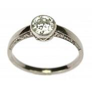 🇨🇿 Zlatý prsten s diamantem je vyroben z bílého 18karátového zlata. Jedná se o ruční zlatnickou práci z období Československa třicátých let. Diamant briliantového brusu má 0,78 karátů, barva je H, čistota VS 2. . . . 🇬🇧 The gold ring with a diamond is made of white 18k gold. This is a handmade goldsmith's work from the period of Czechoslovakia in the 1930s. The diamond has 0.78 carats, the color is H, the clarity is VS 2. . . 70 000 Kč / 2 641 € . . . #starozitnesperkyspribehem #cinolterantiques #prsten #artdeco #antique #miluju #briliant #czechgirl #starozitnosti #anniversary #moments #ano #styl #luxury #dnes #igelifecz #dekuju #praha #summer #den #antiques #tripadvisor #pragueshopping #letime #instagood #instagood #leto #igerscz #leto